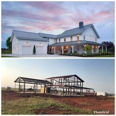 Metal House Plans, Pole Barn House Plans, Pole Barn Homes, Dream House Plans, Metal Building Homes Texas, Home Building Design, Building A House, House Design, Metal Building House Plans