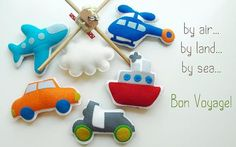 BON VOYAGE Musical Baby Mobile Transportation by GiftsDefine