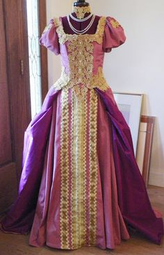 My reproduction Russian Court Gown or Wedding Gown