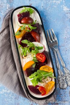 Kochen mit Diana/ Cooking with Diana: Rote Beete-Mozarella-Tomaten Salat/ Beetroot-mozzarella-tomato salad