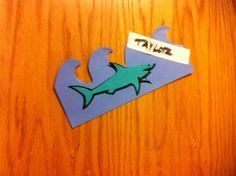 These shark door decs are lurking around to see then new BNB residents Ra Door Decs, Res Life, Door Tags, Shark, March, College, Doors, Ideas, Style