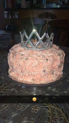Princess rose tiara cake!