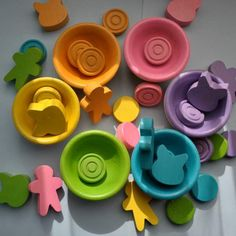 Mix and Match Sorting Shapes, Educational Toy / Waldorf Wooden Toy / Montessori Toy. $30.00, via Etsy.