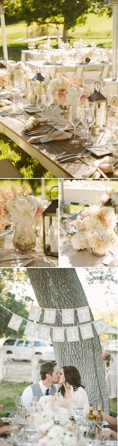 this is a good ideas for a wedding, but i like the decor for an intimate backyard summer dinner