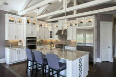 Ceiling beams transcend the line between functionality and high design. Give your kitchen the sense of boundless space.Seen in Mabry Manor, an Atlanta community.