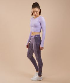 a4867d532e5fad Teen Girl Outfits, Sport Outfits, Crop Top And Leggings, Long Sleeve Crop  Top