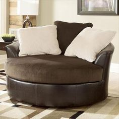 Ashley Oversized Round Swivel Chair