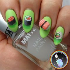 3D sushi nail art