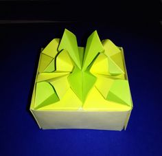 Origami flower gift box. Easy and Awesome. Origami box. Ideas for Easter