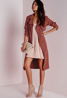 Peached Belted Trench Coat Rust - Coats and Jackets - Trench Coats - Missguided