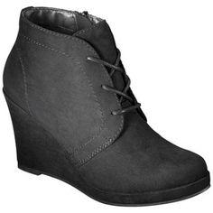 Black Women's Mossimo® Estella Wedge Booties: Target