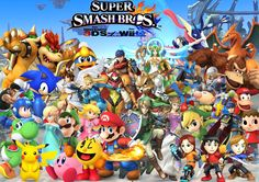 Here is another Super Smash Bros Wii U and one that I will be updating of new characters if it comes around. Hope you like this. Super Smash Bros WII U Characters Smash Bros Wii, Nintendo Super Smash Bros, Nintendo Ds, Mario Kart 8, Mario Bros, Super Smash Bros Videos, Super Smash Bros Characters, Wii U, Pikachu