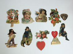 Antique Ephemera Victorian era Collection trade cards, scrap booking and collage, Valentines, romance by Victoriantovintage on Etsy