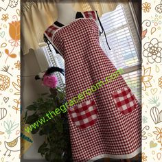 A personal favorite from my Etsy shop https://www.etsy.com/listing/236410468/red-gingham-1940s-vintage-style-apron