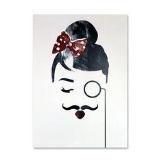 Art Print - Moustache Girl » Pretty Dandy