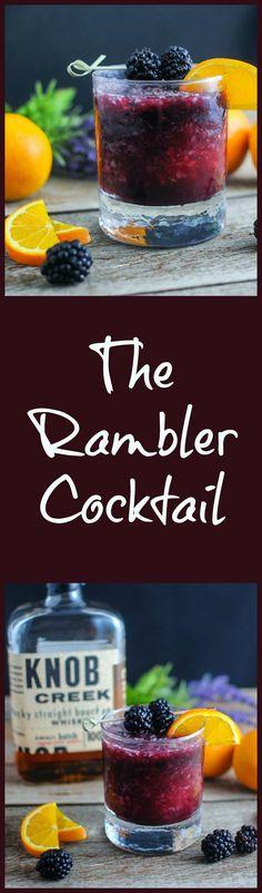 The Rambler - bourbon, blackberries, orange juice: #cocktailrecipes