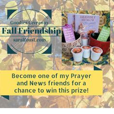 Visit saralfoust.com to enter for a chance to win this fun fall prize! I hope to see you soon!!!