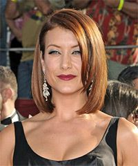 Kate Walsh Hairstyle: Formal Medium Straight Hairstyle