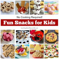 no-cook fun snacks for kids