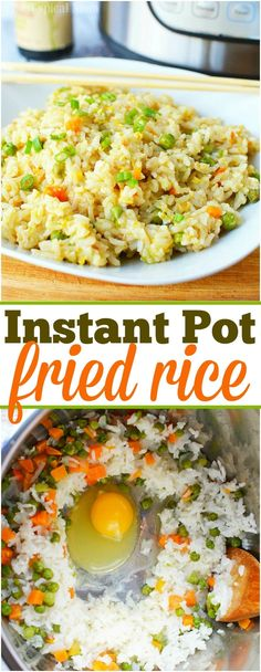 If you love your Instant Pot you are going to love this easy pressure cooker fri. - If you love your Instant Pot you are going to love this easy pressure cooker fried rice recipe pack - Beef Fried Rice, Veggie Fried Rice, Recipe For Fried Rice, Instant Pot Pressure Cooker, Pressure Cooker Recipes, Pressure Cooking, Instant Cooker, Rice Recipes, Vegetable Recipes