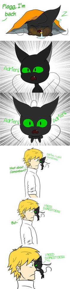 Miraculous Ladybug & Chat Noir - Plagg - The Discovery of Doritos - part Ladybug & Chat Noir - Plagg - The Discovery of Doritos - part 2 By daylight, Marinette Dupain-Cheng and Adrien Agreste are ordinary teenage. Miraculous Ladybug Fanfiction, Miraculous Ladybug Fan Art, Meraculous Ladybug, Ladybug Comics, Lady Bug, Miraculous Wallpaper, Cat Noir, Doritos, Kids Shows