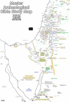 Master archeological bible study map of the promised land. Tour Map of Israel: Israel Bible Study Tools, Bible Study Journal, Scripture Study, Bible Teachings, Bible Scriptures, Faith Bible, Quick View Bible, Religion, Bible Mapping