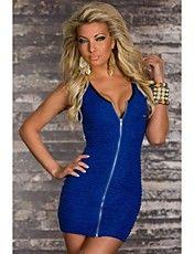 Damen Blue Stretch-Minikleid mit Zip Dauer – EUR € 12.12