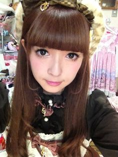 Misako Aoki - I admire that she always wears her own hair! Her makeup is easy to see here.