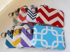 Small Zipper Wristlet Key Chain Wallet Coin Purse by ThePurseCo
