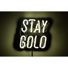 Stay Gold Neon Sign   Wayfair
