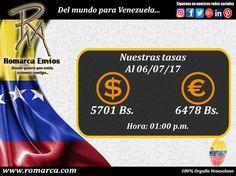 📊En Romarca ofrecemos nuestras tasas de cambio a la 1:00pm  🕐 hora Este #Usa 🔛 #Venezuela 🔸Visita nuestro sitio web para mayor información. #PaisesBajos #Suiza #Suecia #España #Finlandia #Grecia #VenezolanosEnEuropa #Viena
