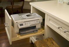 Built in desk, Office nook and Kitchen desks Home Office Space, Home Office Design, Home Office Decor, Home Decor, Desk Office, Diy Home Office Furniture, Closet Office, Office Lounge, Home Office Storage