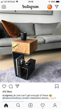 db - design bunker on More than just simple furniture. This is true art of functionality. Side Table by bakerstreetboys_london them to see Simple Furniture, Steel Furniture, Home Decor Furniture, Diy Home Decor, Furniture Design, Furniture Dolly, Furniture Outlet, Retro Furniture, Discount Furniture
