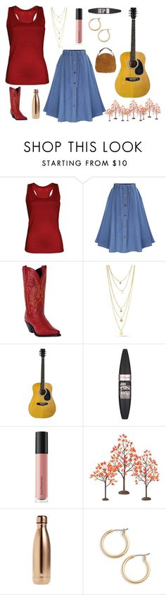 """""""Laurelyn Dosset *see description"""" by broadwaygal13 ❤ liked on Polyvore featuring Antigua, WithChic, Laredo, Maybelline, Bare Escentuals, Department 56, S'well, Nordstrom and UGG"""