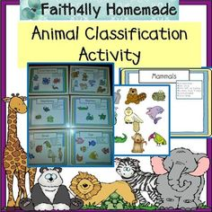 Use this activity to enhance your science lesson!  Sort and classify animals by category.  The categories include; invertebrates, and the 5 vertebrates: mammals, reptiles, amphibians, birds, & fish.  Students can place the animals onto the correct poster as they classify.  ********* Like this product?
