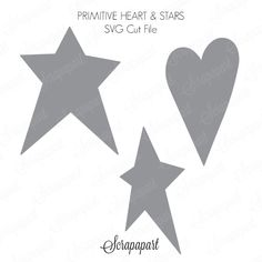 Free Cut File: Primitive Heart and Stars | Scrapapart