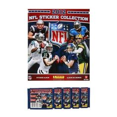 2012 NFL Sticker Collection Super Combo - Football Sticker Album + 18 Sticker Packets (126 NFL Stickers) by Panini. $25.99. ***Includes 18 Sticker Packets*** It's back!  The all-new 2012 NFL Sticker Collection from Panini is back and better than ever!  Get a head start on the competition with the Bonus Sticker Kit! Organize all your stickers in the official sticker album. On the back of every sticker is the number that will tell you where it goes in your album. Get yo...