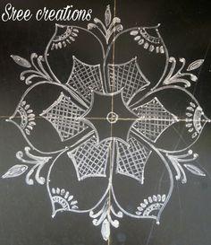 Sreelakshmi's rangoli Indian Rangoli, Kolam Rangoli, Simple Rangoli, Colorful Rangoli Designs, Beautiful Rangoli Designs, Kolam Designs, Indian Art, Simple Designs, Artworks