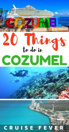 Cozumel Cruise Tips and 23 Best Things to Do in Port Cozumel tips for your cruise or visit to this beautiful island off the coast of Mexico. Find 20 best things to do in Cozumel. Tulum Mexico, Cozumel Mexico Cruise, Cozumel Excursions, Mexico Vacation, Mexico Travel, Belize Cruise Port, Cozumel Beach, Costa Maya Mexico, Cozumel Island