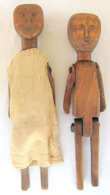 Anonymous Works: 19th Century Southern Folk Art Dolls Marionette, Art Carved, Primitive Folk Art, Creepy Dolls, Old Dolls, Little Doll, Naive Art, Wooden Dolls, Outsider Art