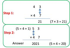 Multiplication of 2-digit number by a 2-digit number