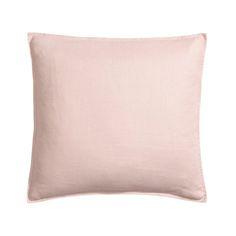 Minimalist blush pink linen pillow, via @sarahsarna.