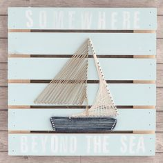 Somewhere Beyond the Sea Rustic Pallet Project by Gabriela Perdomo - Stampington String Crafts, String Art, Pallet Projects, Craft Projects, Craft Ideas, Somerset Place, Beyond The Sea, Craft Sale, Pink And Green