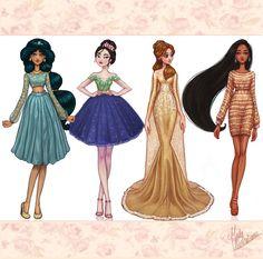 Disney+Princesses+Dreams+Collection+II+by+MidaIllustrations.deviantart.com+on+@DeviantArt