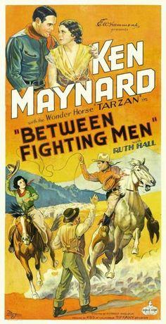 Between Fighting Men - Forrest Sheldon - 1932 Western Film, Western Movies, Caricature, Westerns, Movie Collage, Hooray For Hollywood, Cowboy Art, Man Movies, Tarzan