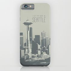 I LEFT MY HEART IN SEATTLE iPhone & iPod Case