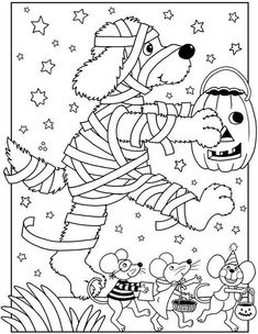 Halloween Coloring Pages Dover Publications costume Fall Coloring Pages, Printable Coloring Pages, Adult Coloring Pages, Coloring Pages For Kids, Coloring Books, Feliz Halloween, Theme Halloween, Halloween Kids, Halloween Crafts