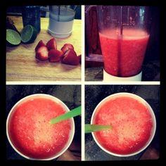 Recipe: Frozen Strawberry Limeade | ireallylikefood