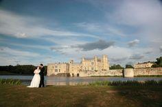 Leeds Castle portrait shot with castle in background