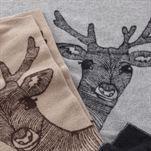 Deer wool throw from Klippan Yllefabrik by Emmelie Ek